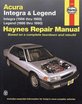 Honda (Acura) Integra & Legend 1986 - 1990 Workshop Manual