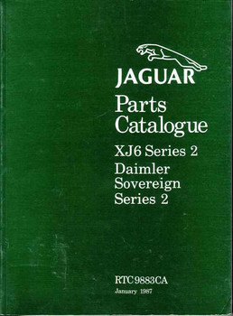 Jaguar Parts Catalogue XJ6 Series 2, Daimler Sovereign Series 2