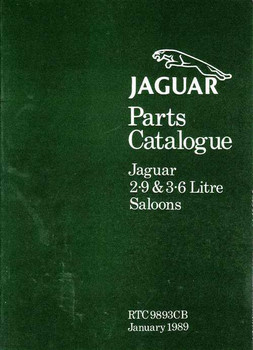 Jaguar Parts Catalogue 2.9 and 3.6 Litre Saloons