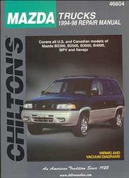 Mazda Trucks 1994 - 1998 Workshop Manual