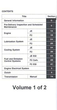 Mazda 929 Workshop Manual (2 volumes)