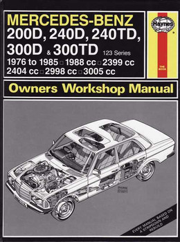 Elegant Mercedes   Benz 200D, 240D, 240TD, 300D, 300TD 123 Series Workshop Manual  ...