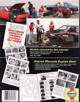 Nissan Pulsar N14 1991 - 1995 Workshop Manual