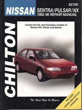 Nissan Sentra, Pulsar, NX 1982 - 1996 Workshop Manual