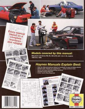 Mitsubishi Colt 1982 - 1990 Workshop Manual
