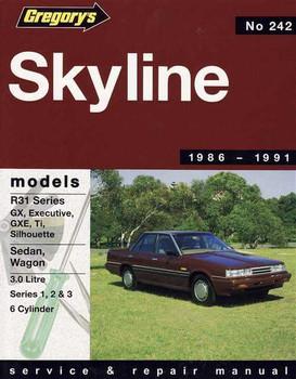 nissan skyline model r30 series workshop manual rh automotobookshop com au 1999 Nissan Skyline Nissan Skyline Interior