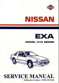 Nissan Exa Model N13 Series Workshop Manual