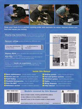 Saab 9 - 5 1997 - 2004 Workshop Manual