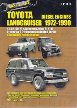 Toyota Land Cruiser BJ, HJ, LJ Series 1972 - 1990 Workshop Manual - front