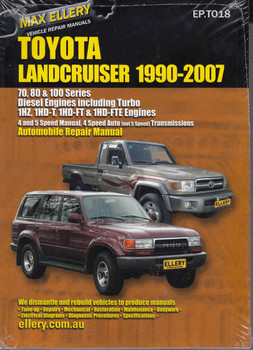 Toyota Land Cruiser 70's, 80's and 100's Series Diesel Engines 1990 - 2007 Workshop Manual (9781876720018) - front