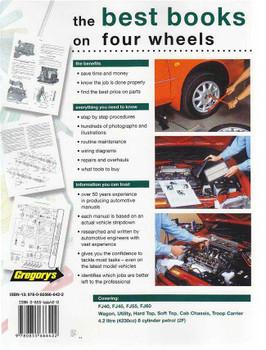 Toyota Land Cruiser FJ Series FJ40, FJ45, FJ55, FJ60 1975 - 1984 Workshop Manual
