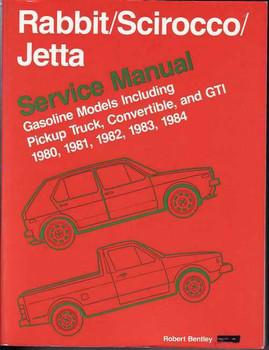 Volkswagen Rabbit (Golf), Scirocco, Jetta 1980 - 1984 Workshop Manual