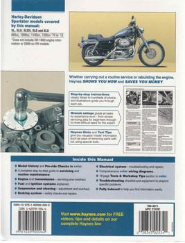 Harley-Davidson Sportsters 1970 - 2013 Workshop Manual