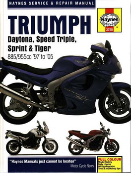 Triumph Daytona, Speed Triple, Sprint, Tiger 1997 - 2005 Workshop Manual