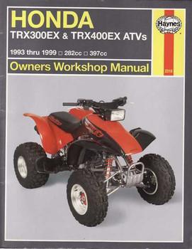 Honda TRX300EX & TRX400EX ATVs 1993 - 1999 Workshop Manual