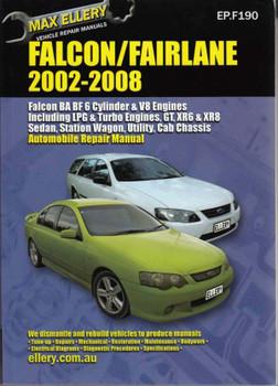 Ford Falcon Fairlane Ltd Ba Bf   Workshop Manual