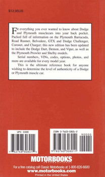 Dodge & Plymouth Muscle Car Red Book (2nd Edition)