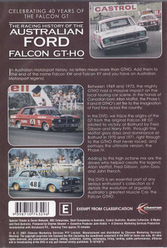 The Racing History of The Australian Ford Falcon GT - HO DVD