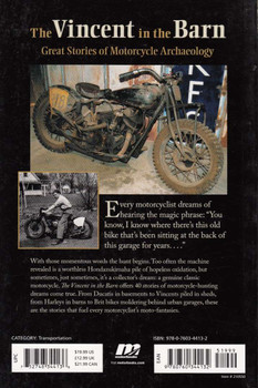 The Vincent in the Barn: Great Stories of Motorcycle Archeology Back Cover