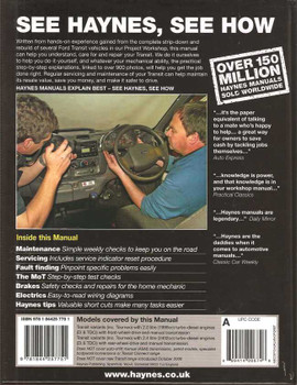 Ford Transit Diesel 2000 - 2006 Workshop Manual