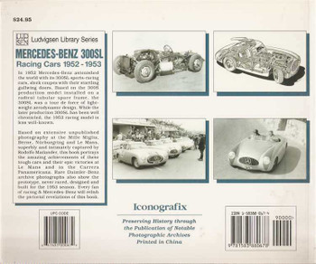 Mercedes - Benz 300SL: Racing Cars 1952 - 1953
