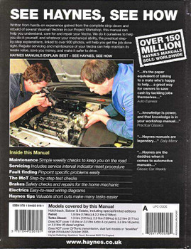 Holden Vectra 2002 - 2005 Workshop Manual