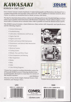 Kawasaki KLR650 1987 - 2007 Workshop Manual