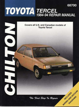 B B Toyota Tercel Repair Manual on Chilton Toyota Tercel 1995