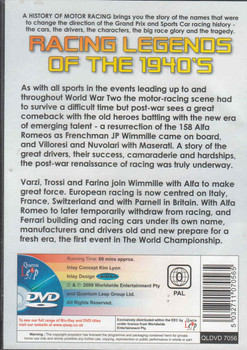 Racing Legends Of The 1940's DVD (5032711070565) - back