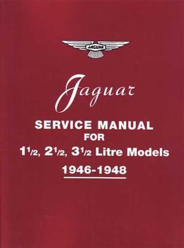 Jaguar 1 1/2,  2 1/2, 3 1/2 Litre Models Workshop Manual