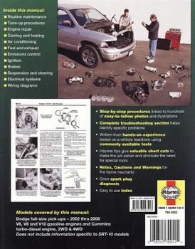 Dodge Pick-ups V6, V8, V10 2002 - 2008 Workshop Manual