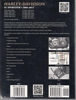 Harley-Davidson XL Sportster 2004 - 2013 Workshop Manual back cover