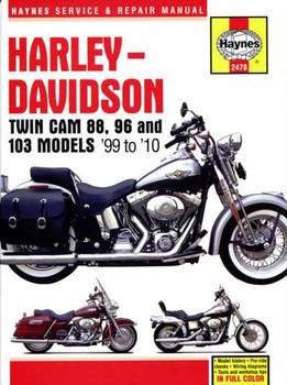 Harley-Davidson Twin Cam 88, 96 & 103 Models 1999 - 2010 Workshop Manual