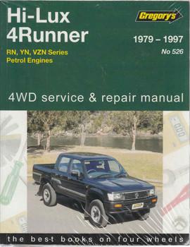 Toyota Hi-Lux 4 Runner RN, YN, VZN Series, Petrol 1979 - 1997 Workshop Manual (9781563929595)