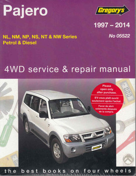 Mitsubishi Pajero NL, NM, NP, NS, NT & NW Series Petrol, Diesel 1997 - 2014 Workshop Manual  - front