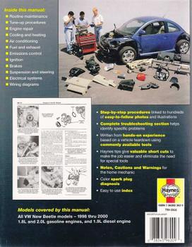 Volkswagen New Beetle All Models 1998 - 2000 Workshop Manual