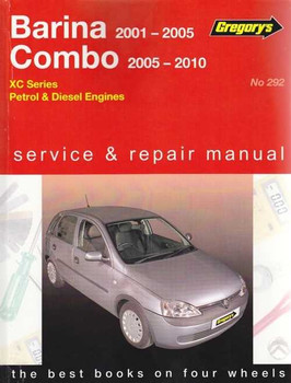Holden Barina, Combo XC Series Petrol & Diesel 2001 - 2010 Workshop Manual