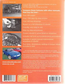 Mazda Miata MX-5 Eunos Roadster 1.6 Enthusiast's Workshop Manual