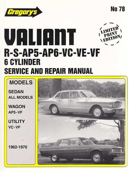 Chrysler Valiant R, S, AP5, AP6, VC, VE, VF 1962 - 1970 Workshop Manual