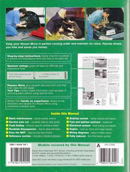 Nissan Micra 1993 - 2002 Workshop Manual