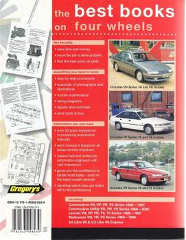 Holden Commodore, Toyota Lexcen VN to VS, V6, V8 1988 - 1997 Workshop Manual
