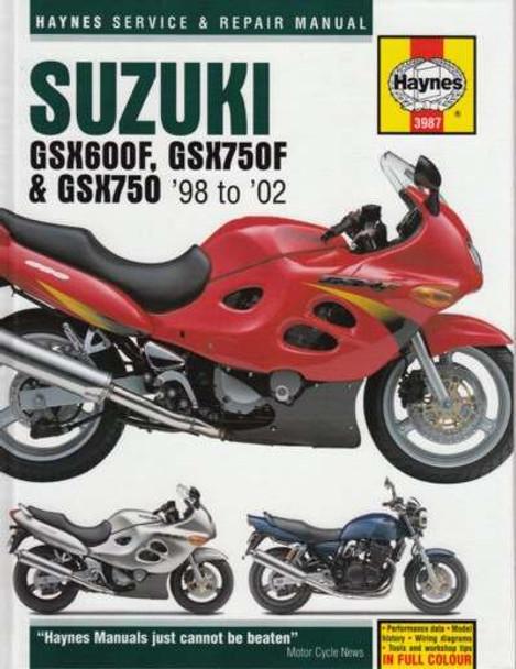 buy suzuki gsx600f gsx750f gsx750 1998 2002 workshop manual rh automotobookshop com au suzuki gsx750f service manual pdf suzuki gsx 750 f service manual free