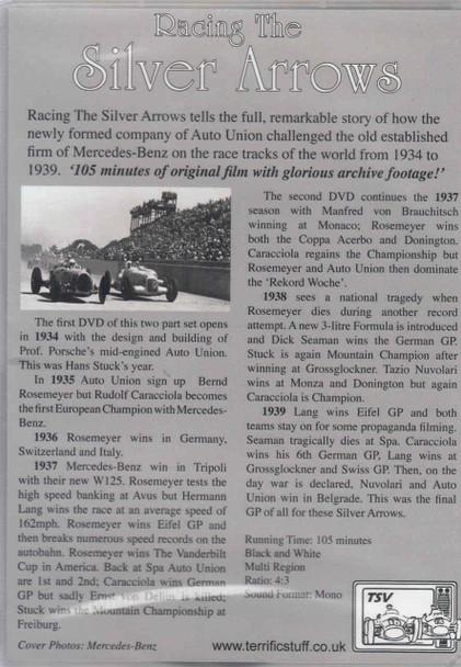 Racing The Silver Arrows: Mercedes-Benz versus Auto Union 1934 - 1939 2-disc DVD Set  - back