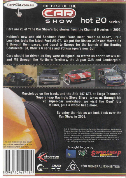 Hot 20 Series 1 DVD (9398710417494) Back