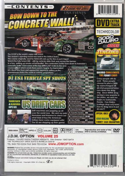 J.D.M. Option International Volume 25: 2006 D1 GP Round 1 DVD Back