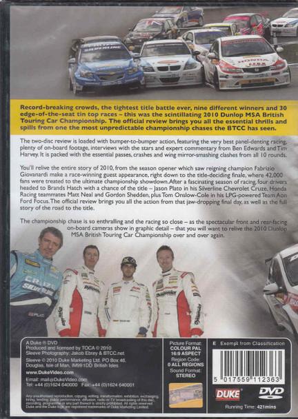 BTCC The 2010 Dunlop MSA British Touring Car Championship DVD