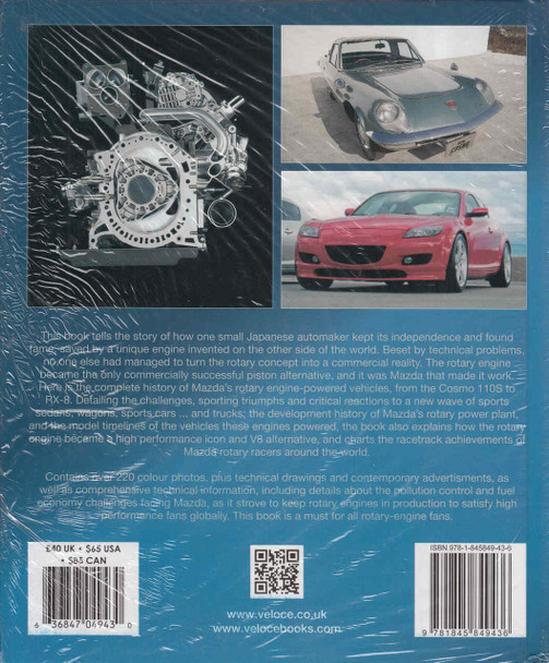 Mazda Rotary-Engined Cars: From Cosmo 110S To RX-8 (9781845849436)  - back
