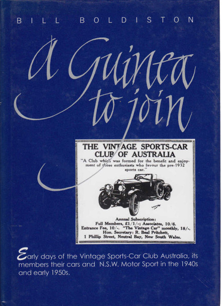 A Guinea To Join (Bill Boldiston) Leather Limited Numbered Edition (9780975721216)