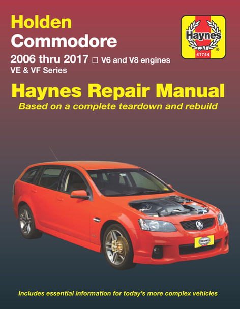 holden commodore 2006 thru 2017 ve vf series repair manual rh automotobookshop com au Holden Commodore Ve Airflow Meter Holden Commodore Vy