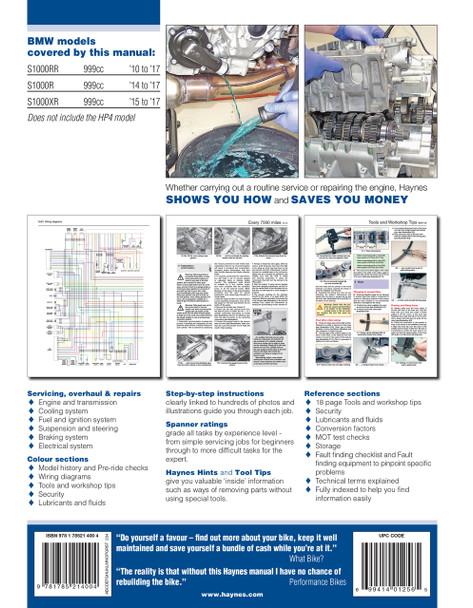 BMW S1000RR S1000R S1000XR 2010 - 2017 Workshop Manual